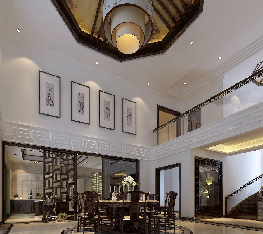 别墅客厅玻璃楼梯设计完美化,离不开木质复合板与不锈钢的陪衬,悬空设